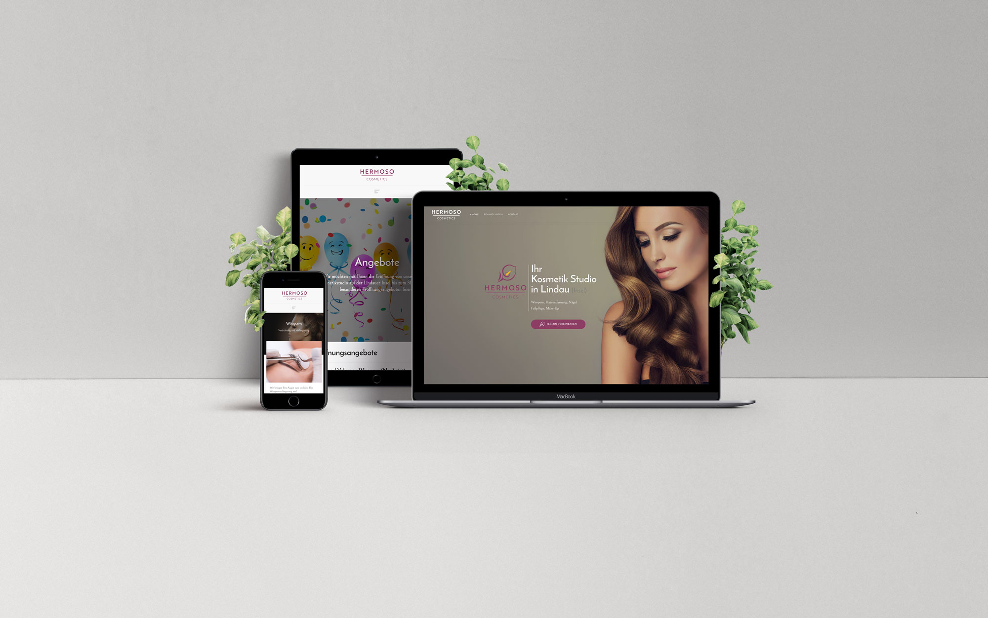 Webdesign Referenz, Hermoso Cosmetics, Lindau