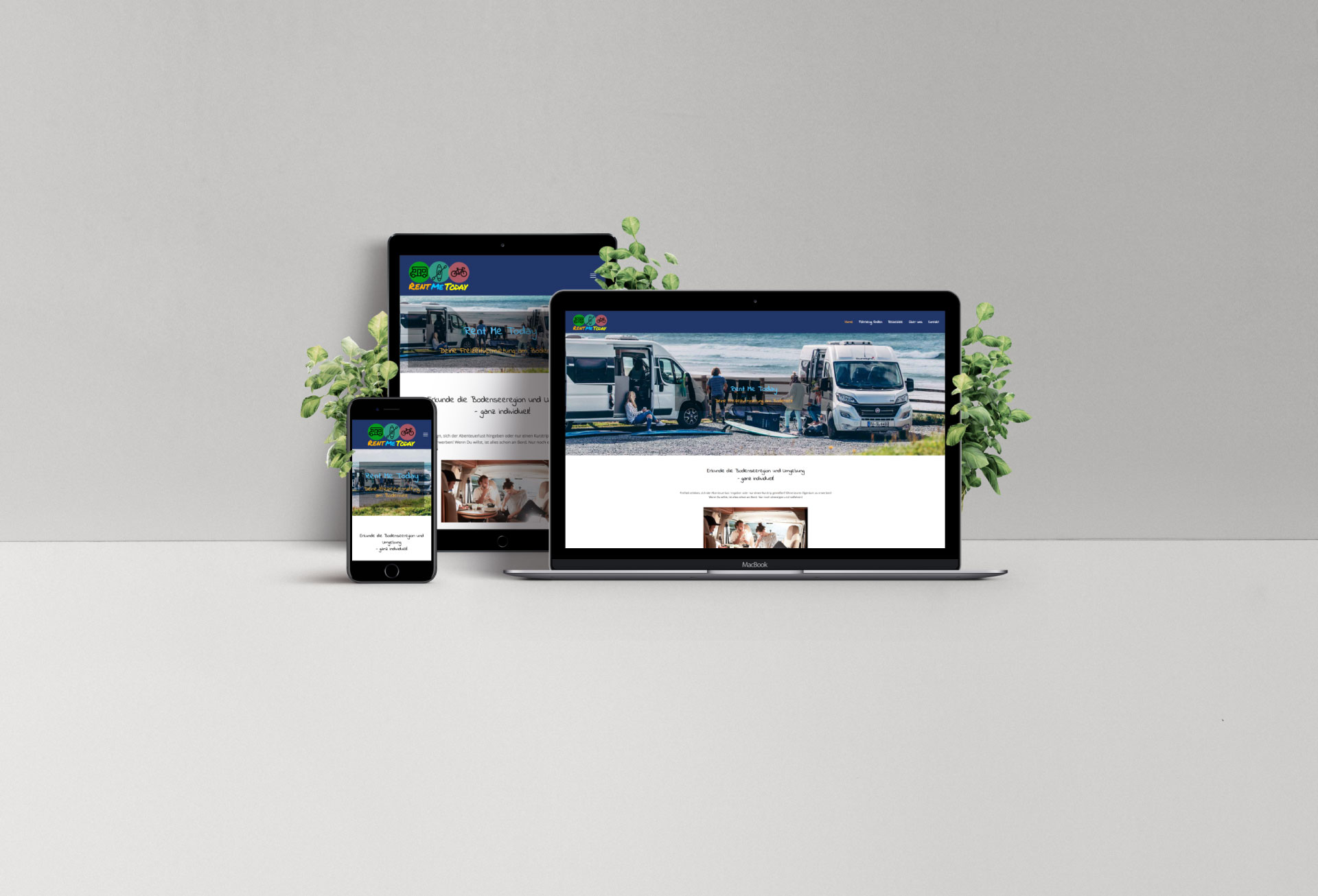 rentme.today- Webdesign Bodensee Referenz multi devices